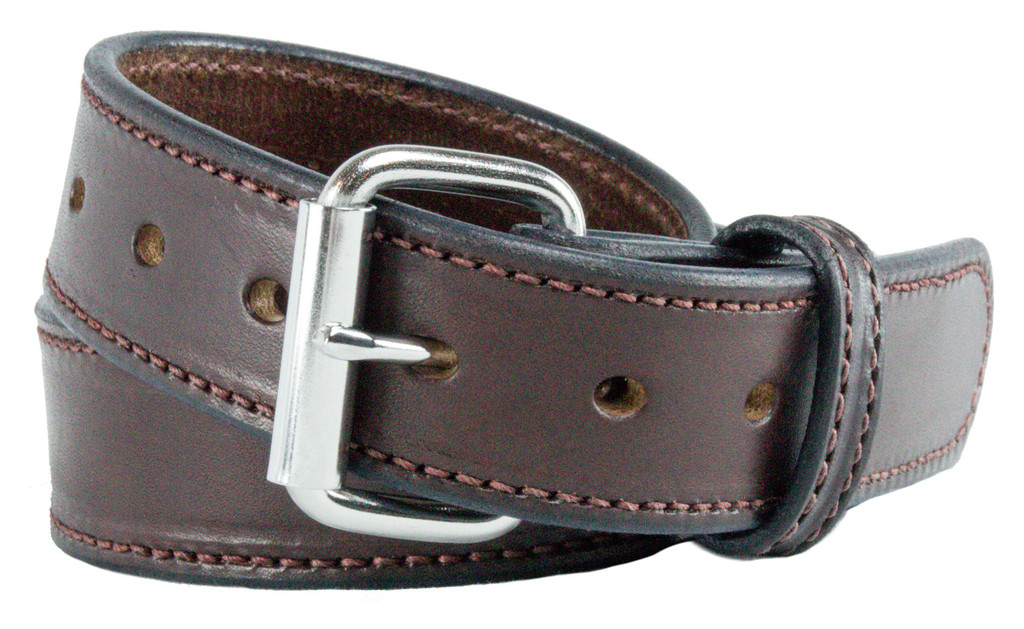 The Ultimate Concealed Carry CCW Gun Belt - Brown 14 oz. 1 1/2 Inch Premium Full Grain Leather Belt - Handmade in the USA!