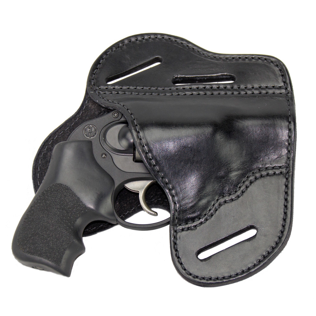 The Ultimate Leather Gun Holster Black 3 Slot Pancake