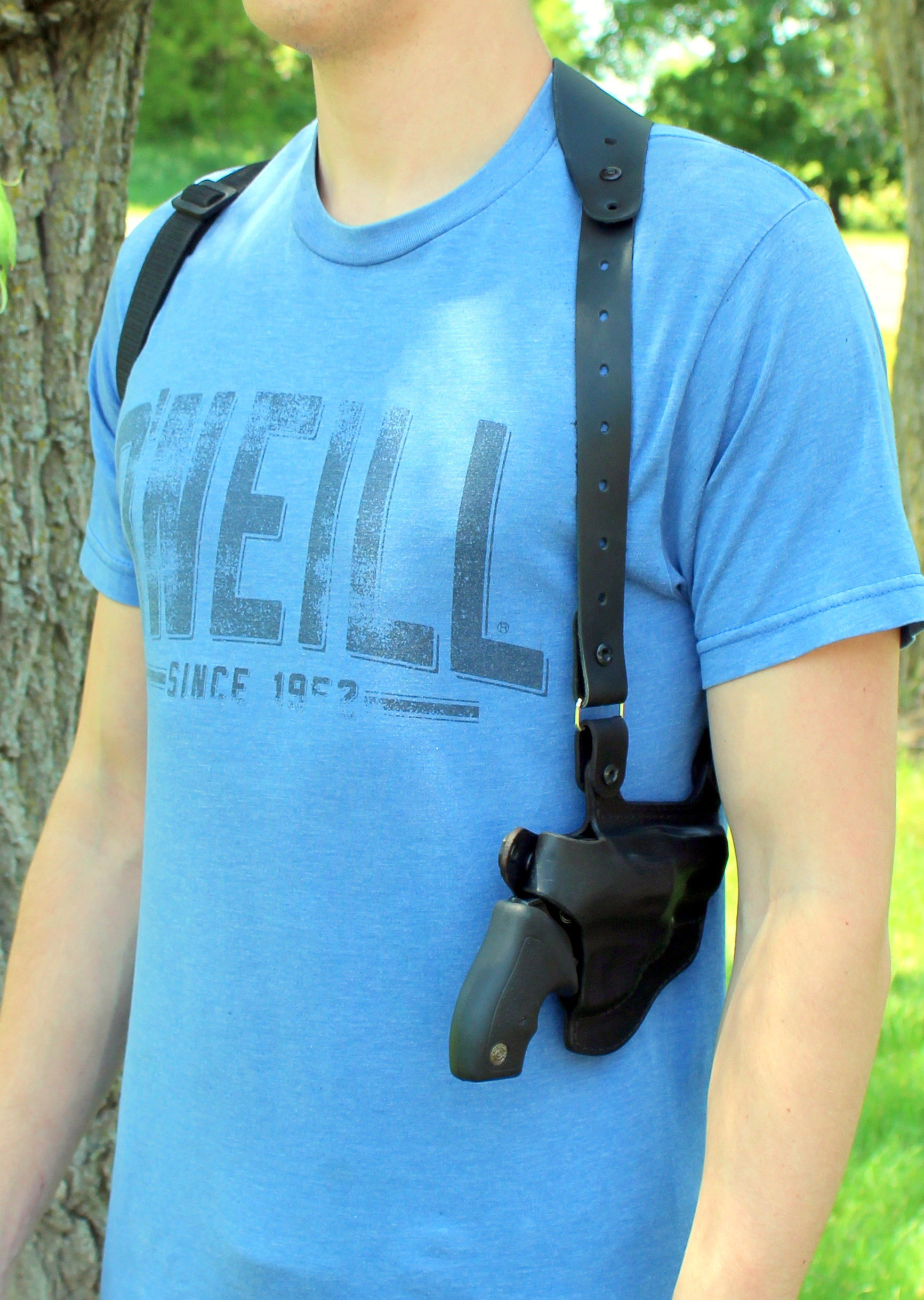 JRT Lightweight Summer Shoulder Holster in Black