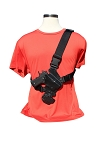 The NEW JRT TACTILE Chest Holster for Midsize Guns Black Kydex with Black Straps