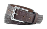 The Ultimate Concealed Carry CCW Gun Belt - Brown Basket Weave Pattern - 1 1/2 Inch Premium Full Grain Leather Belt - Handmade in the USA!