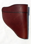 The Defender Leather IWB Holster - Fits Most J Frame Revolvers Incl. Ruger LCR, S&W 442/642, Taurus, Charter & Most .38 Special Revolvers - Made in USA - BROWN