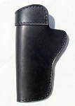 The Defender Leather IWB Holster - Fits Most 1911 Style Handguns - Kimber - Colt - S & W - Sig Sauer - Remington - Ruger & More - Made in USA - BLACK