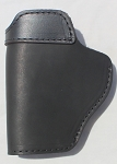 The Defender Leather IWB Holster For S&W M&P Shield - GLOCK 17 19 22 23 32 33 / Springfield XD & XDS / Plus All Similar Sized Handguns - MADE IN USA - BLACK