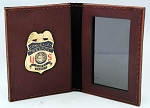 US CCW Concealed Carry Gun Permit Brown Bullhide Leather Wallet