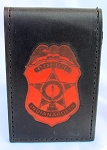 Leather Inlay Indianapolis Police Notebook
