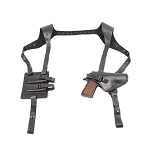 The Ultimate Leather Shoulder Holster - BLACK - Fits Glock, 1911, and J Frame