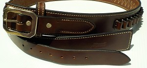 The Ultimate Western Premium Full Grain Leather Belt with Cartridge Loops- Handmade in the USA!